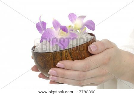 holding bowel of orchid