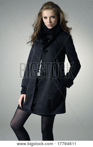Attractive young fashion model