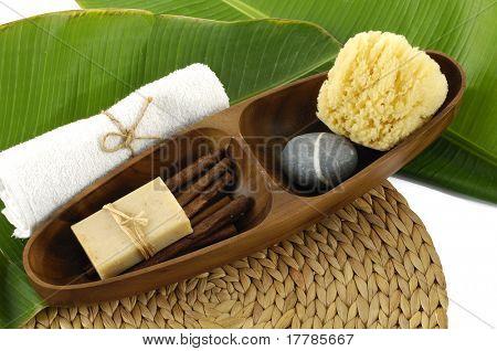 Bath accessories background