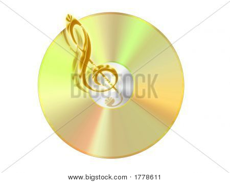 Cd With Treble Clef