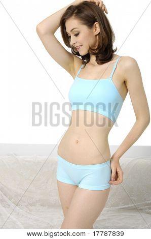 Flawless lady posing in underwear
