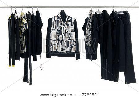 Fashion autumn clothes rack display