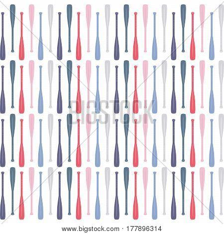 Flat illustration of a multi color canoe paddle pattern.