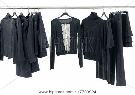 Fashion autumn/winter clothes rack display