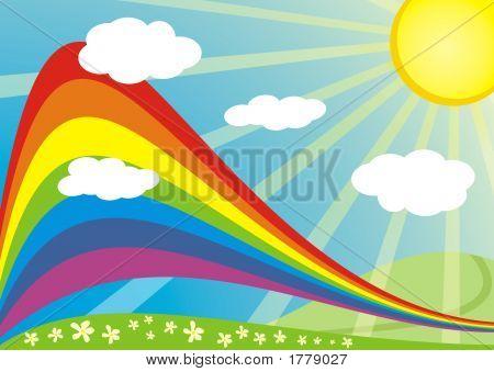 Rainbow Sunny Nature