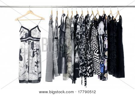 Fashion clothing rack display on hanging