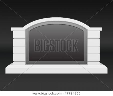 Monument stone sign. Vector illustration Eps 10.