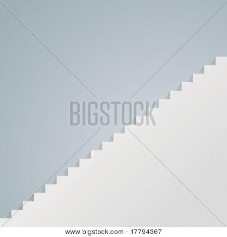 weiße Treppe Vektor Abbildung Eps 10.