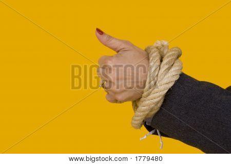 "Captive Woman Saying ""Ok"""