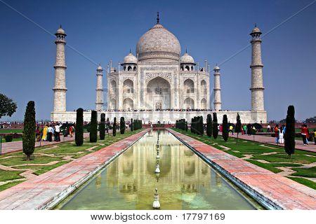 The Taj Mahal in Agra India