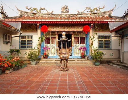 Ancestral Temple In Taiwan