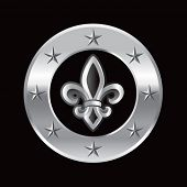 fleur de lis on silver star ring