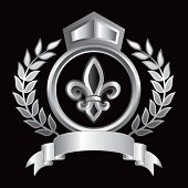 fleur de lis royal silver display
