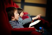 Two Preschool Children, Twin Brothers, Watching Movie In The Cinema poster