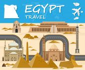 Egypt Landmark Global Travel And Journey Infographic Background. Vector Design Template.used For You poster