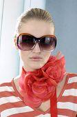 Постер, плакат: Мода модель носить большой солнцезащитных очков