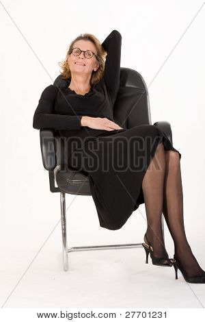 Mature secretary in relax