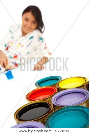 Woman Painter