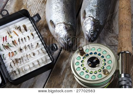 Fly fishing background
