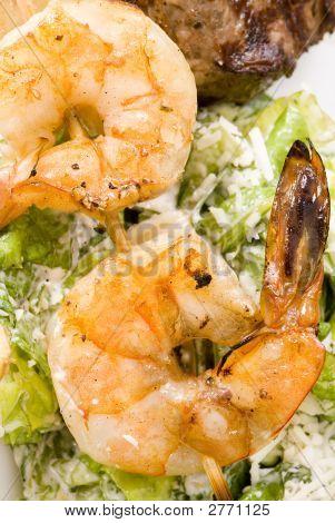 Prawns And  Ceaser Salad