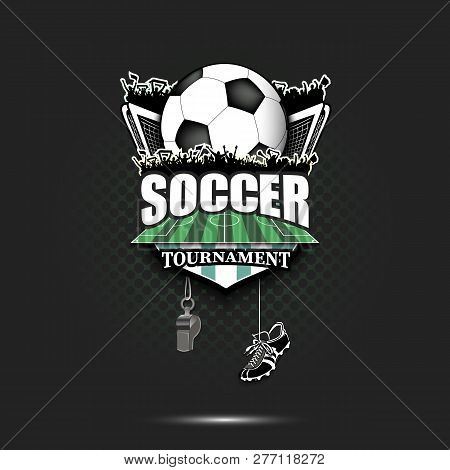 Soccer Logo Design Template Football