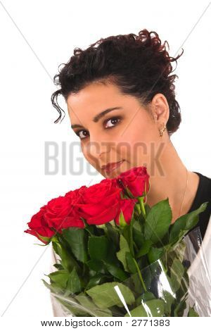 Smelling Red Roses