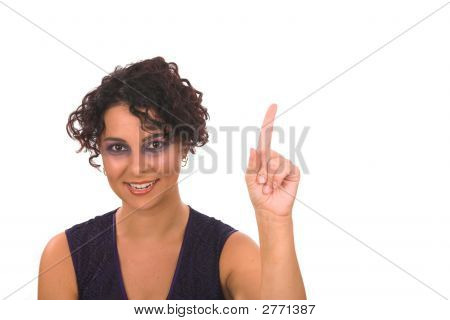 Lady Counting One With Finger