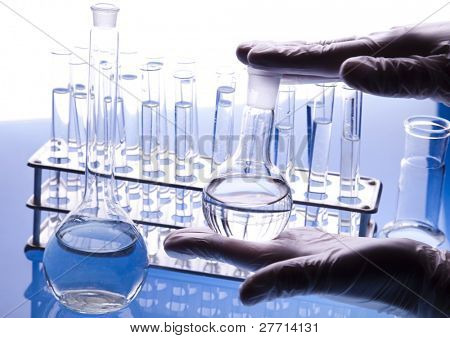 Working in a laboratory