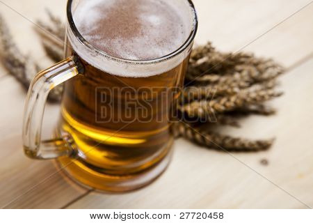 Beer with grain