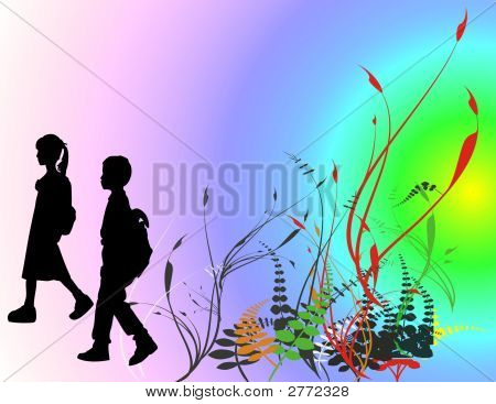 Niños y escuela