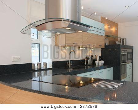 Interior de cocina de lujo