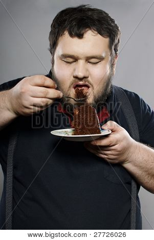 Pin Man Eating Cake Ideas And Designs