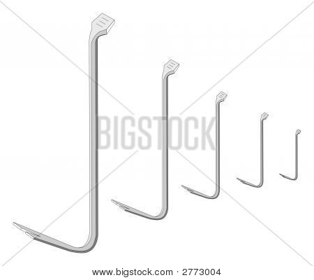 Vector Gray Crowbar