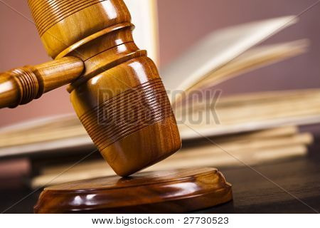 Justice concept , Wooden gavel barrister