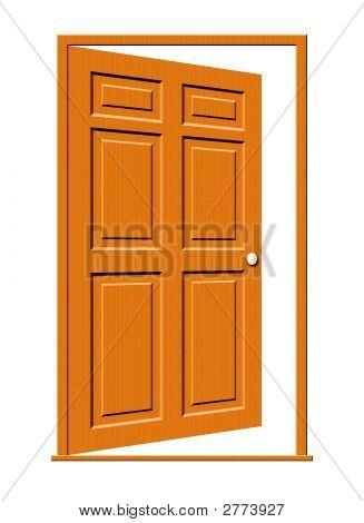 Open Door Illustration