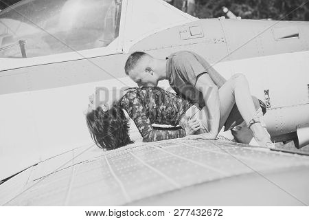 Couple Makes Love On Wing