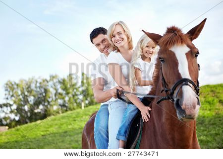 Family on a horse
