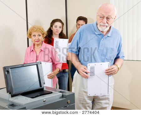 Confused Senior Voter