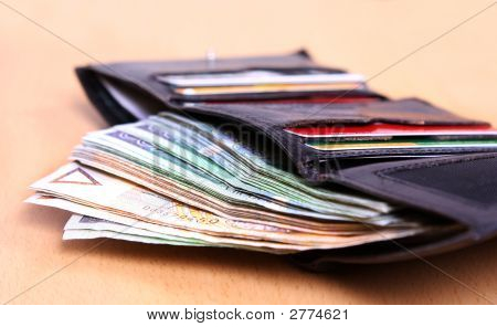 Money In Leather Wallet