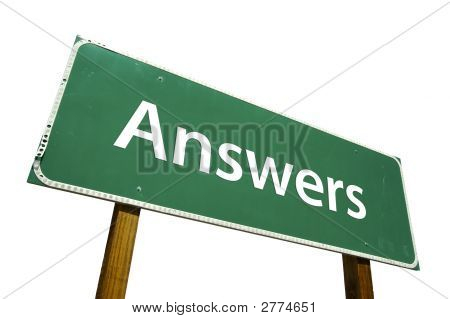 Answers - Road Sign.