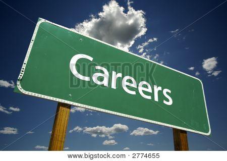 Karriere - Straßenschild