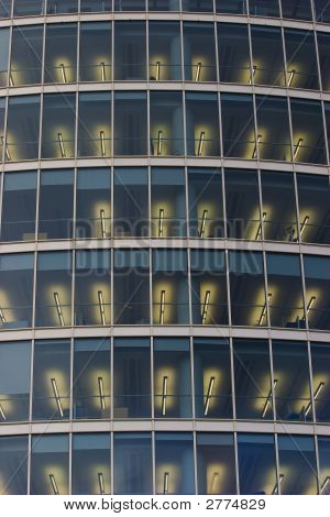 Illuminated Office Windows