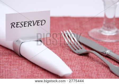 Reserved Place Card