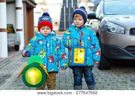 Two Little Kids Boys Holding