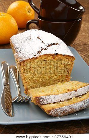 Almond Cupcake On A Platter.