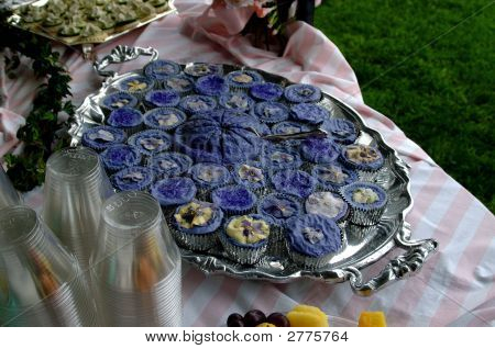 Tons Of Purple Cupcakes