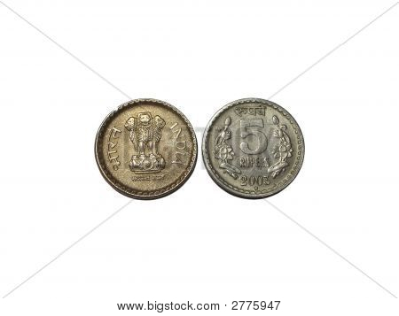 Indian Currency - Five Rupee Coin
