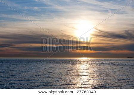 Beautiful New England Sunset