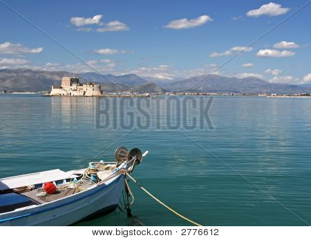Boat And Castle Island