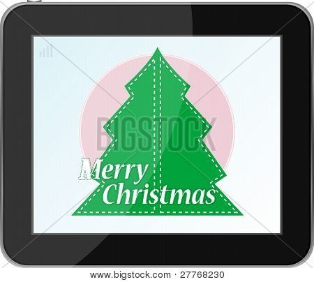 christmas tree in table pc